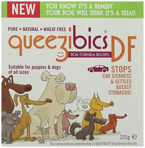 QueezibicsDF Dog Formula Biscuits Travel Sickness Biscuits, 225 g