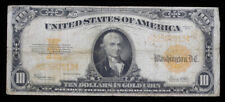 1922 $10 GOLD CERTIFICATE US VERY GOOD+ PAPER MONEY NOTE