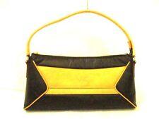 Auth HUNTING WORLD Black Brown Battue cloth, Leather Shoulder Bag