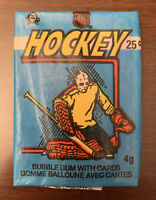 (1)-1982-83 OPC O-Pee-Chee Hockey NHL-Wax Pack Cards-Unopened-Gretzky?-Fuhr RC?
