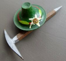 pick Swiss mountain brooch c pin -A465 vintage art deco retro flower hat ice