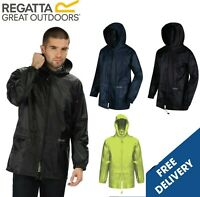 Regatta Mens Womens Stormbreak Rain Coat Waterproof Jacket Packable Hooded