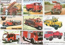 TIMBRES VOITURES POMPIERS /  : 25 TIMBRES TOUS DIFFÉRENTS / NEW STAMPS CARS