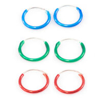 """Pair of Hinged Hoop 22 Ga  3/8"""" (10mm) Perfect for Nose, Cartilage, Helix, Rook"""
