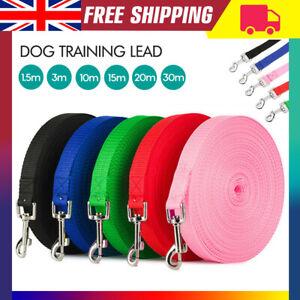 1.5m,3m,10m,15m,20m,30Metres Long Durable Dog Training Lead Recall Agility Leash