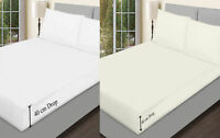 2 Pack Extra Deep Fitted Sheet Bed Sheet for Bedroom Single 4Ft Double King Size