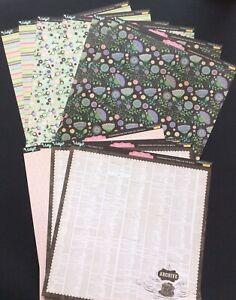 Pink Paislee 12x12 Cardstock Vintage Vogue Collection Collage Press Studio 10 PC