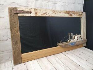 Driftwood Mirror Ship Coastal Beach Home Decor