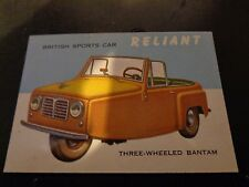 1954 Topps Reliant #115 World On Wheels Non Sport Trading Card VG+ Condition
