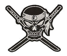 Badge Patch Kung Fu Samurai Skull Hotfix Patch Diy Embroidered