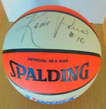 Kim Perrot Auto Spalding WNBA Official Outdoor Basketball  Comets Dec. 1999