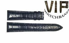 NEW OEM Authentic Ulysse Nardin strap 20 mm genuine Alligator leather NAVY BLUE