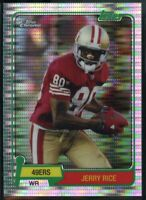 2015 Topps Chrome FB SET BREAK #JR Jerry Rice 60th Anniversary Pulsar #/50