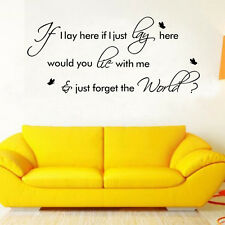 Snow Patrol Chasing Cars Music Lyrics Wall Stickers Removable Home Decor Decals