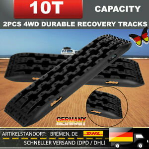 2 Stücke Schwarz 10T Fahrzeug Recovery Tracks Sand Mud Schnee Track Reifen DHL R
