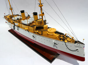 """USS Olympia Protected Cruiser Handmade Wooden Ship Model 40"""" Scale 1:100"""