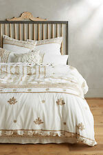 NIP Anthropologie Milla Duvet Ivory Queen