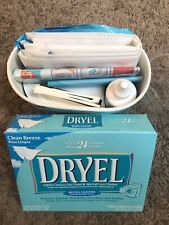 Original Dryel Starter Kit Home Dry Cleaning +Refill Cloths Clean Breeze Laundry