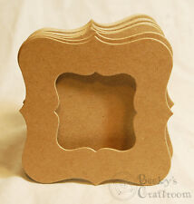 "Bare Chipboard 4-1/4"" Mini Bracket Frame Album 10 pages window front unbound"