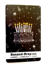 RENAUD-BRAY Limited Edition birthday Gift Card New No Value *french*RECHARGEABLE
