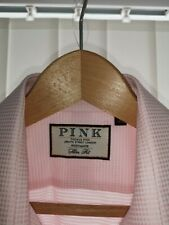 "Mens Thomas Pink slim fit Shirt 16.5"" collar good condition button cuffs"