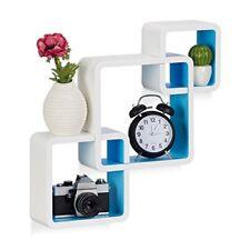 Relaxdays 10021803 361 Étagère Cube Carré Tablette flottante murale 3 Cubes E...