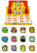 576 Mini Wild Jungle Animals Temporary Tattoos Wholesale Lot 12 asstd designs