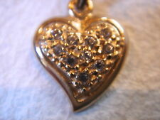 PENDENTIF COEUR EN PLAQUE OR VINTAGE 70 NEUF/NEW HEART PENDENT GOLD PLATED