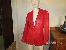 Vintage Lane Davis Designer Red Western Style Leather Jacket Free Shipping