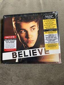 JUSTIN BIEBER BELIEVE DELUXE MUSIC CD & DVD 2012