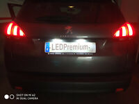2x LED LICENSE NUMBER PLATE LIGHT PEUGEOT 308 II 2 MK2 207 CC 2008 3008 CANBUS
