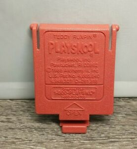 VTG 1985 TEDDY RUXPIN DOLL REPLACEMENT BATTERY COMPARTMENT COVER Door Cartridge