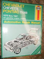 1976-1987 CHEVROLET CHEVETTE PONTIAC 1000 HAYNES REPAIR MANUAL WORKSHOP