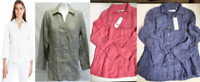 NEW Foxcroft NYC Women's 3/4 Sleeve Linen Shirt-VARIETY