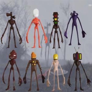 8Pcs/Set Siren Head Action Figure Horror Sculpture Shy Guy Urban Legend Toy Doll