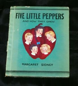 Five Little Peppers and How They Grew Sidney Whitman 1938 retold version board