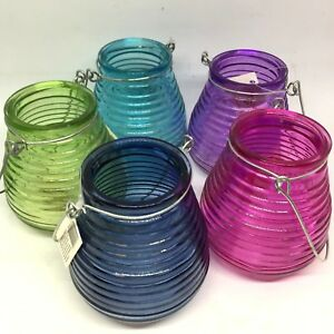 Tealight holders - Navy, Blue, Green, Pink and Purple.