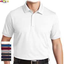 MEN'S CASUAL DRY FIT SPORT PLAIN POLO SHIRT COOLING GOLF 100% POLYESTER S~3XL