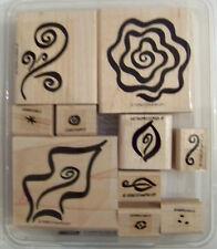 Stampin Up Fabulous Flourishes Missing 1 great set 2 step flower leaves swirls