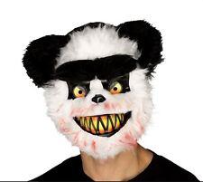 Adulto KILLER Critter Zombie PANDA Male Horror Halloween Fancy Dress Maschera
