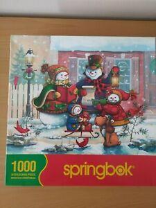 VINTAGE SPRINGBOK Chant de Noel Christmas/Snowman 1000 PIECE JIGSAW