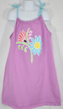 Girls HANNA ANDERSSON Sz 130 8 Yrs PURPLE FLORAL STRAP SLEEVELESS SUMMER DRESS