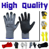 Builders Safety Protective DIY Gardening Working Gloves Rubber PVC Latex Strong