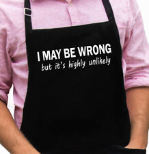 May Be Wrong Funny Novelty Apron Gift for Dad, Husband, Fathers Day