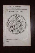 ✒ 1683 MANESSON MALLET Continent ARCTIQUE rare représentation 17e