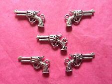 Pistola de plata tibetana/pistola Encantos Paquete de 5 Vaquero