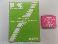 Kawasaki Kx250 Owner'S And Service Shop Manual 99920-1211-01