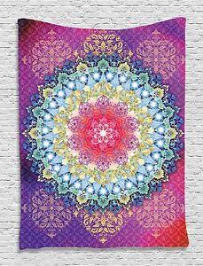 Magical Zen Mandala Floral Tapestry Wall Hanging for Living Room Bedroom Dorm