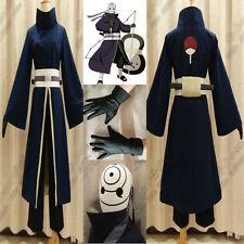 Anime Costume NARUTO Akatsuki Ninja Tobi Madara Uchiha Obito Cosplay Costume