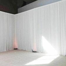 20FTx10FT Fabric Backdrop Draps Wedding Party Reception Photobooth Curtain Decor